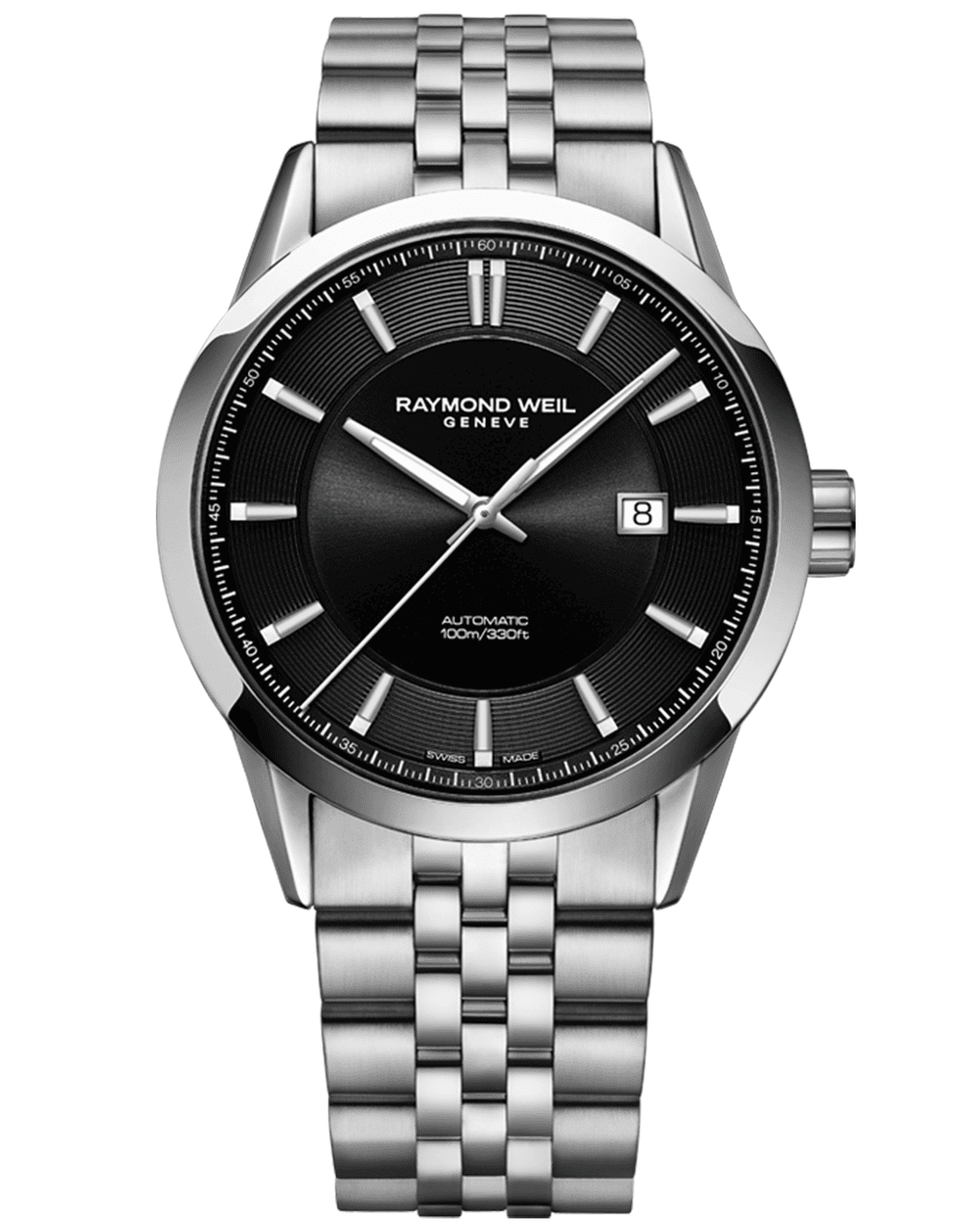 RAYMOND WEIL black dial stainless steel men's freelancer