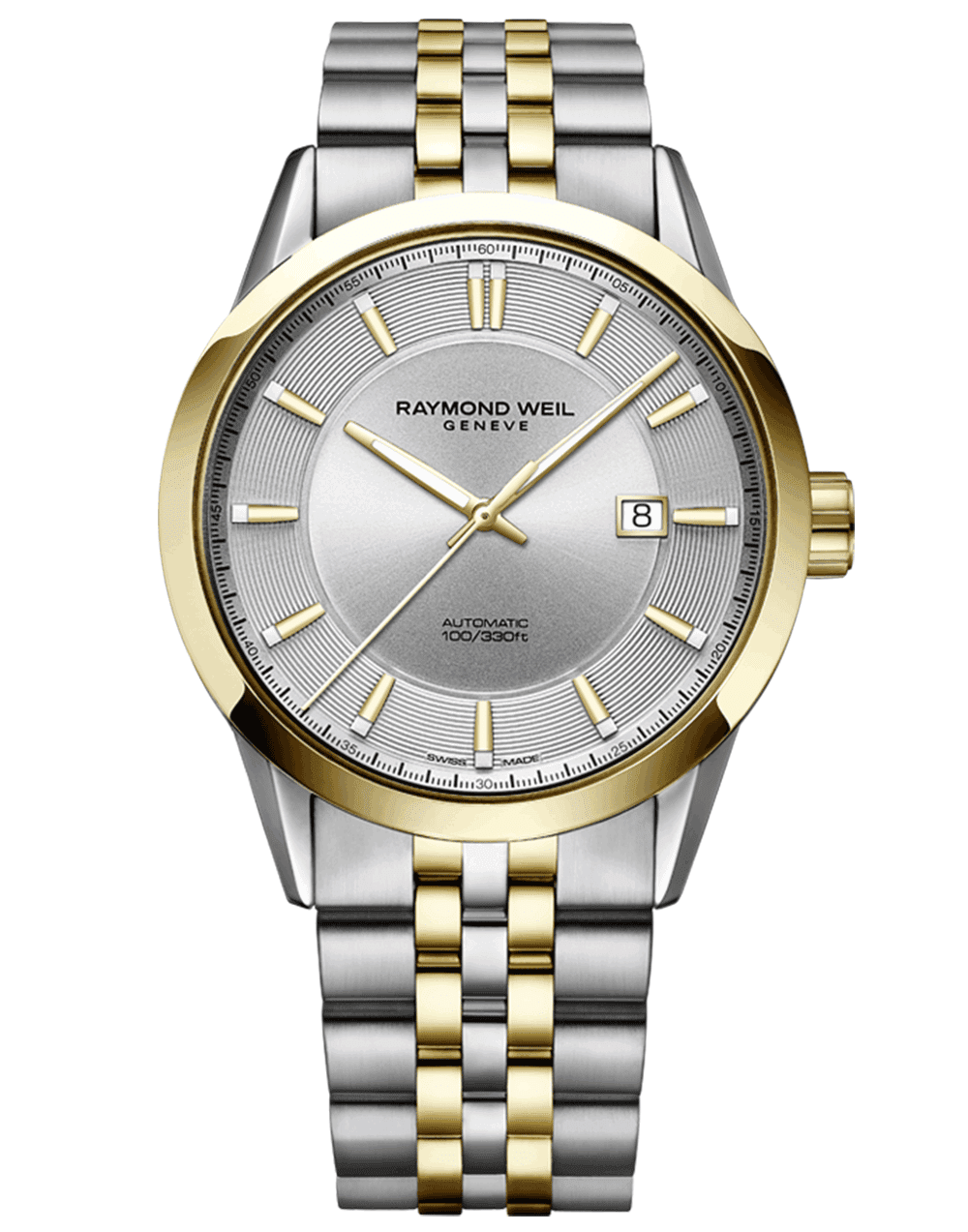RAYMOND WEIL silver dial two tone men's freelancer