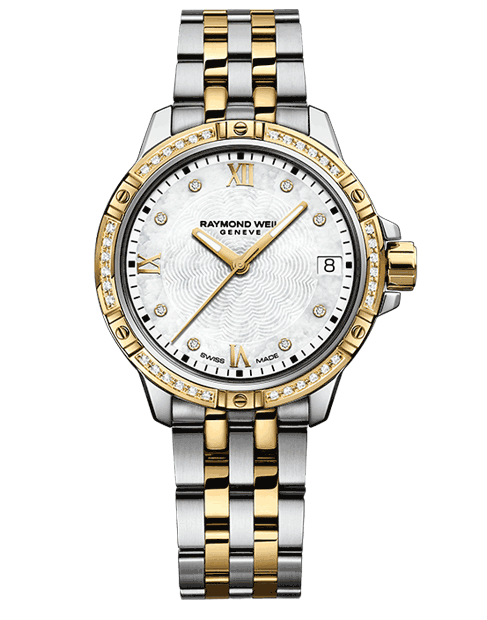 RAYMOND WEIL Geneve Gold Two tone Diamond Quartz Ladies Luxury Watch