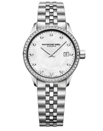 Raymond Weil Geneve White Dial Diamond Ladies Luxury Watch