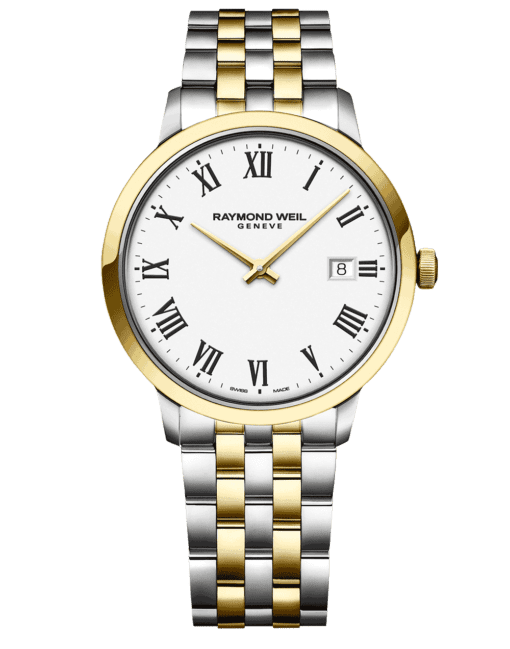 RAYMOND WEIL Geneve Toccata White Dial Two-tone Men's Luxury Watch