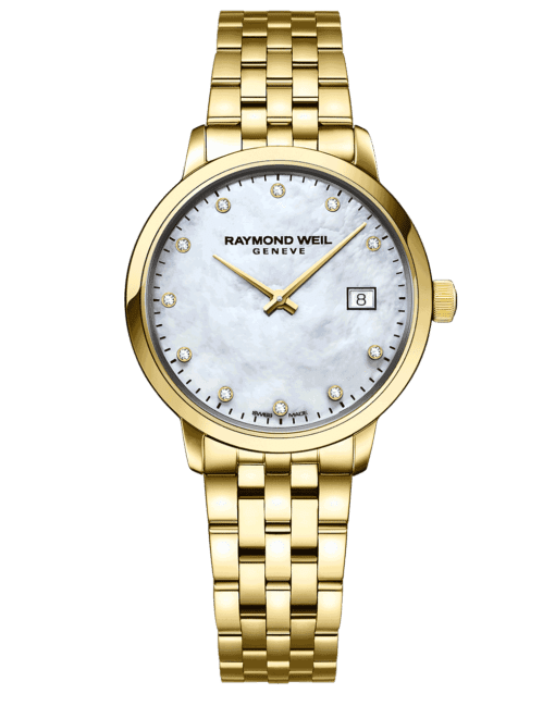 RAYMOND WEIL Geneve Toccata Mother of pearl Dial Gold Women's Luxury Watch