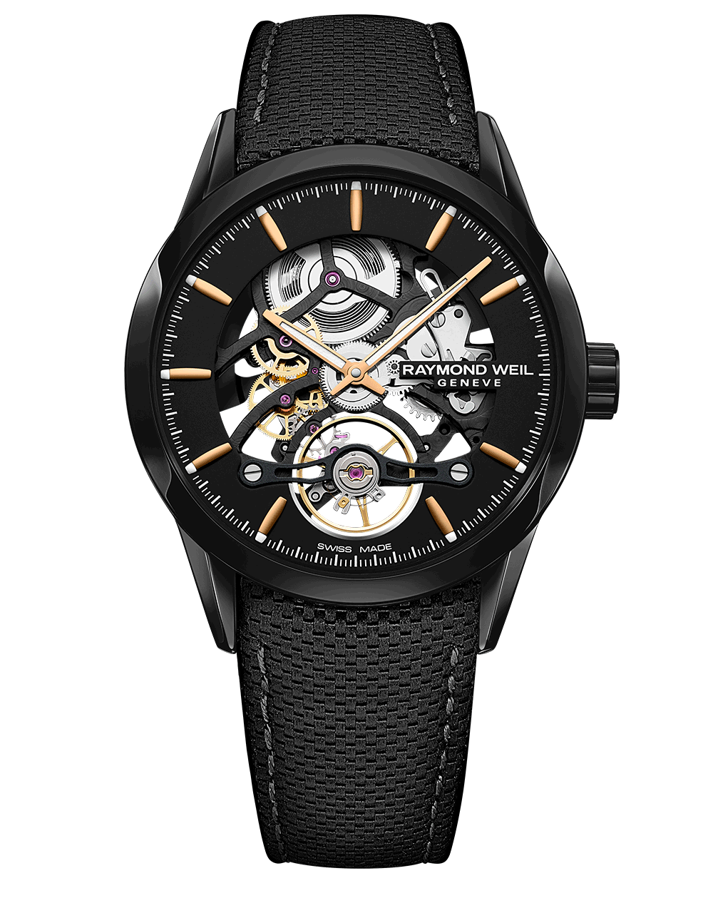 RAYMOND WEIL Men's Freelancer Skeleton Luxury Swiss Watch