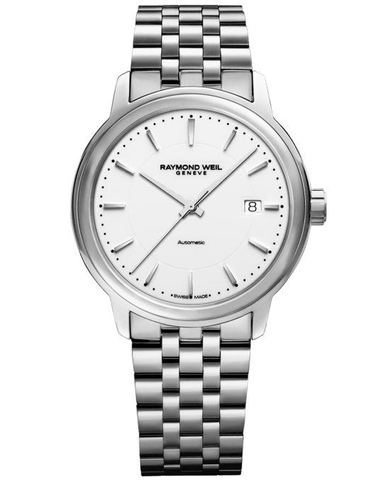 Maestro Men's White Dial Automatic Watch