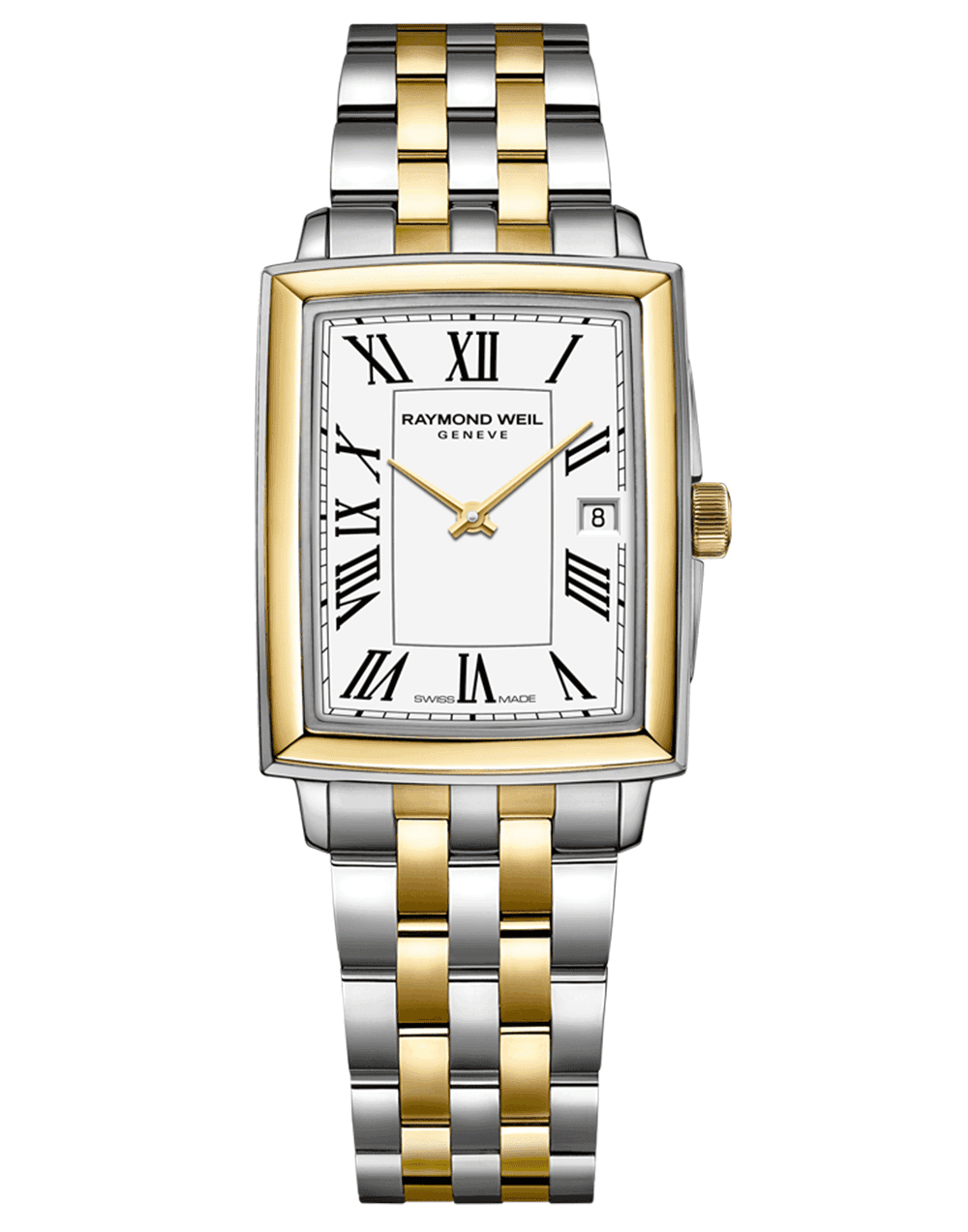 RAYMOND WEIL Toccata Square Two-Tone White Dial Roman Numerals Quartz Watch