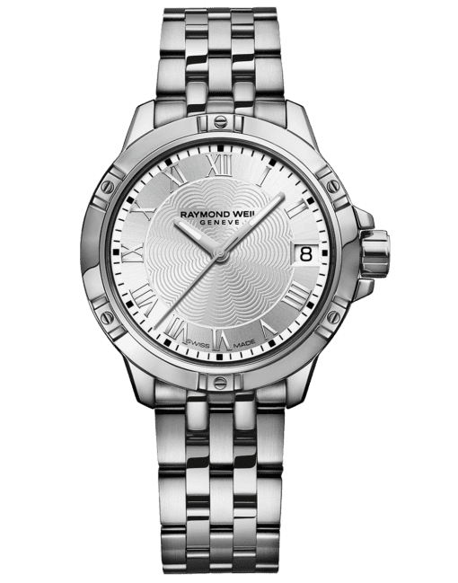 RAYMOND WEIL silver dial stainless steel quartz watch