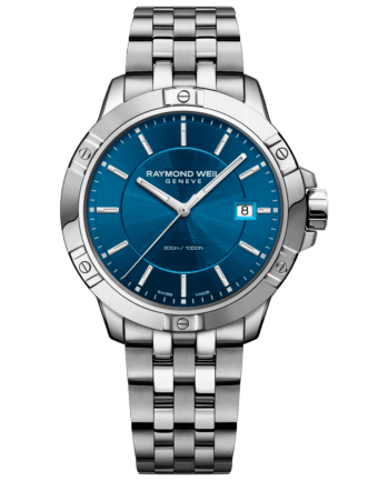 RAYMOND WEIL tango blue dial stainless steel quartz watch