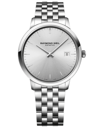 RAYMOND WEIL toccata monochromatic silver stainless steel quartz watch