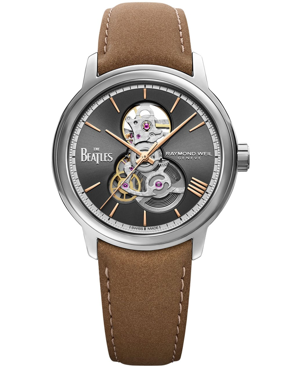 """Maestro Skeleton The Beatles """"Let it Be"""" Limited Edition Watch, 40mm"""